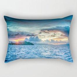 Bora Bora Polynesia sunset Rectangular Pillow
