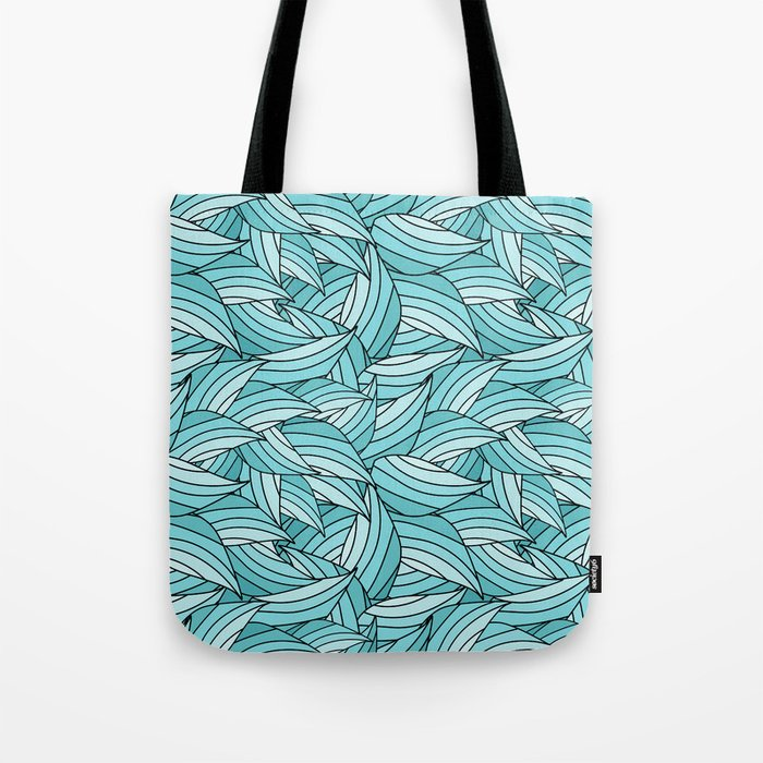 ISLAND PARADISE LEAVES B (abstract flowers nature) Tote Bag