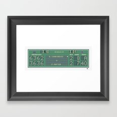 The Match Point Framed Art Print