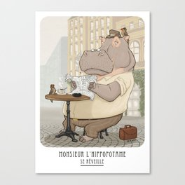 Monsieur 'L hippopotame Canvas Print