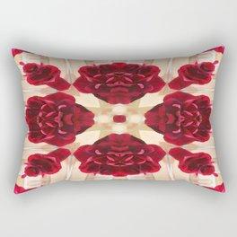 Old Red Rose Kaleidoscope 2 Rectangular Pillow