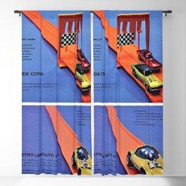 1971 Hot Wheels Italian Dealer's Redline Race Track Catalog Store Poster Blackout Curtain