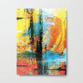 Easel Abstract 12 Metal Print
