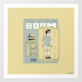 Boom Operator Action Figure Art Print