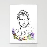 louis tomlinson Stationery Cards featuring Louis Tomlinson by Mariam Tronchoni