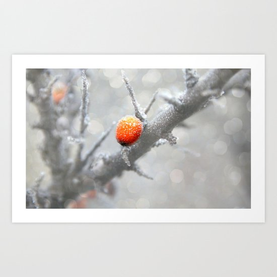 Frozen berries Art Print