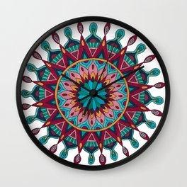 Heart and Soul Mandala Wall Clock
