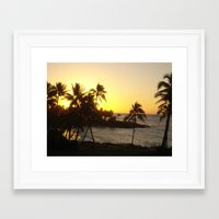 hawaii Framed Art Prints featuring hawaii by melanielaurene
