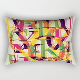 Baskerville font poster Rectangular Pillow