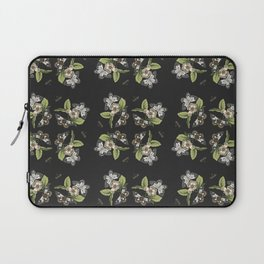 Butterflies and Camellias on Black Laptop Sleeve