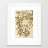 henna Framed Art Prints featuring henna by Julia Loring