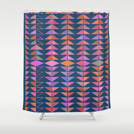 Colorful Triangles Shower Curtain