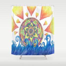 Mandala Sunrise Shower Curtain