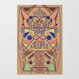 Haikuglyphics - Thoughts on Humanity Canvas Print