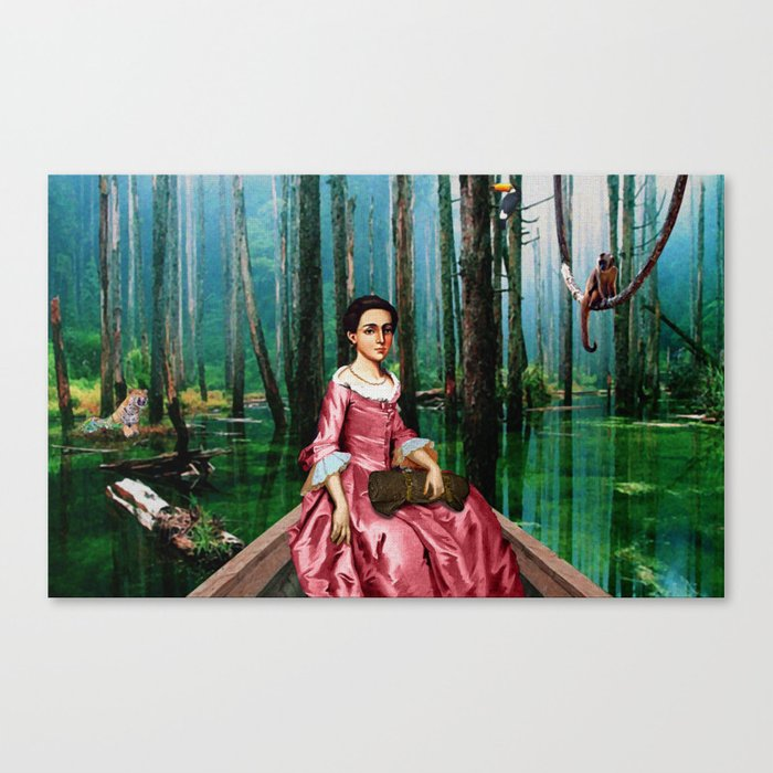 Isabel Godin in the Jungle Canvas Print