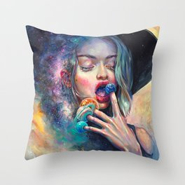 BLACK HOLE IN THE MILKY WAY Throw Pillow