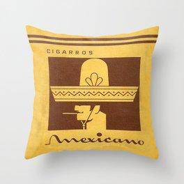 Mexicano - Vintage Cigarette Throw Pillow