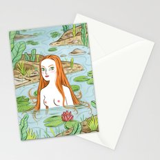 Lady of the pond Stationery Cards