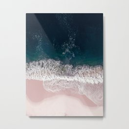 Sands of Pearly Pink Metal Print