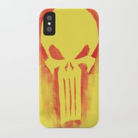 punisher iPhone & iPod Cases featuring Punisher by irvpaj