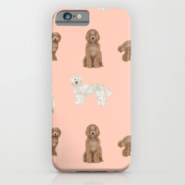 Labradoodle dog breed pet pattern labradoodles iPhone Case