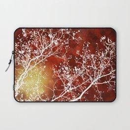 Burgundy Tree Abstract Laptop Sleeve