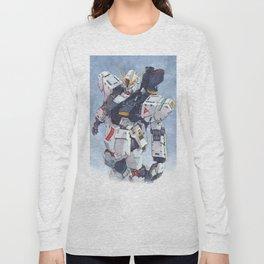 Nu Gundam watercolor Long Sleeve T-shirt