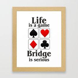 Bridge player gift, Bridge game. Contract Bride, Duplicate Bridge, Bridge lover, Bridge partner Framed Art Print