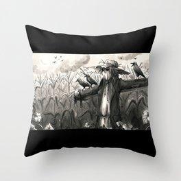 the scarecrow Throw Pillow