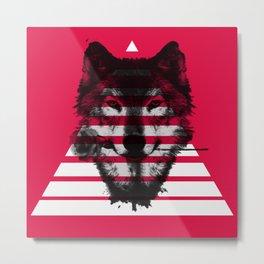 Red wolf white 4 Metal Print