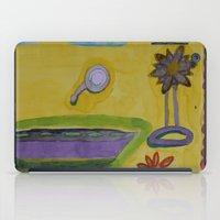 bathroom iPad Cases featuring The Yellow Bathroom by Heidi Capitaine