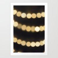 Bokeh lights Art Print