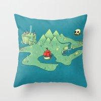 neverland Throw Pillows featuring Neverland by Quinn Shipton