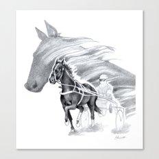 Trotting Up A Storm Canvas Print