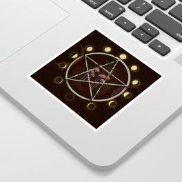 Wiccan magic circle Sticker