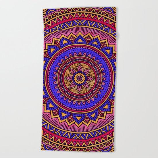 Hippie mandala 42 Beach Towel