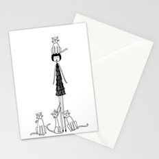 Crazy cat lady Stationery Cards