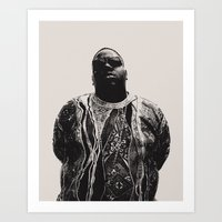 notorious Art Prints featuring Notorious by Ricca Design Co.