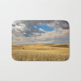 Iowa in November - Golden Corn Field in Autumn Bath Mat