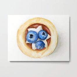 Little Blueberry Tart Metal Print