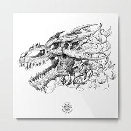 Dragon Skull Metal Print