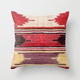 Nevsehir Cappadocian Central Anatolian Kilim Print Throw Pillow