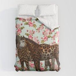 Leopard Horses Comforters