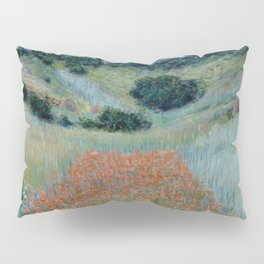 "Claude Monet ""Poppy Field in a Hollow near Giverny"" Pillow Sham"