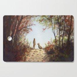 A Walk in the Autumn Woods Cutting Board