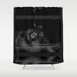 Just lazing about Shower Curtain