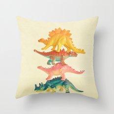 Dinosaur Antics Throw Pillow