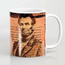 Abraham Lincoln and the Gettysburg Address Coffee Mug