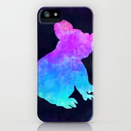KOALA IN SPACE // Animal Graphic Art // Watercolor Canvas Painting // Modern Minimal Cute iPhone Case