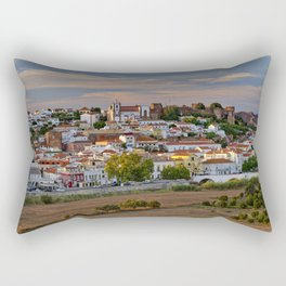 Silves in evening light, Portugal Rectangular Pillow